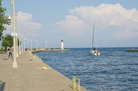 Bronte harbour - Sailing out