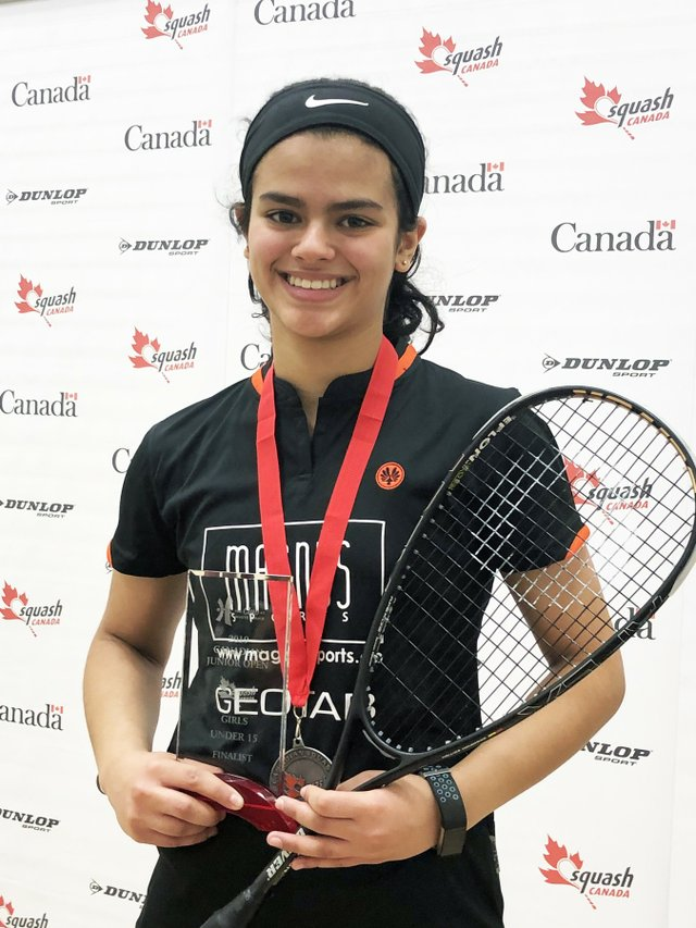 Amal Izhar at the Canadian Junior Open
