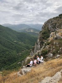 Friends hike in Artsakh