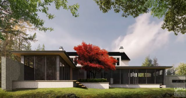 Rear view of proposed renovations