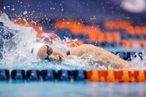 former oac swimmer tessa cieplucha competing in sec championship