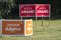 2021 election signs Adamo and Anand, NDP, Liberal.jpg