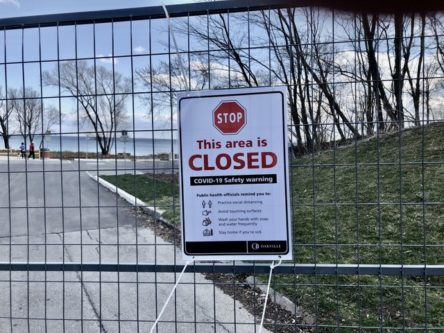 Closed -Oakville Parks COVID-19
