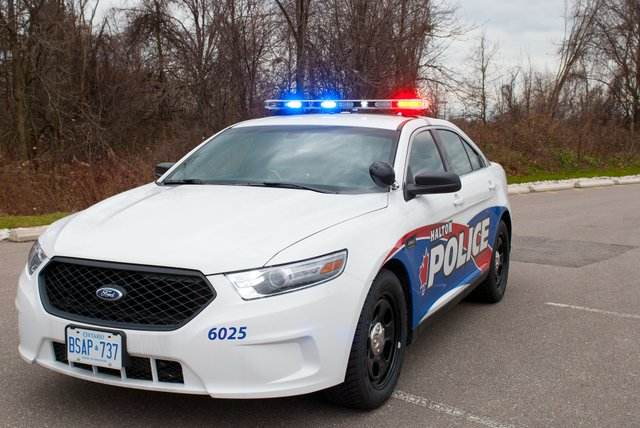 Pioneer Nighttime Residential Break  &  Enters Ford Halton Regional Police Car, Police Crime