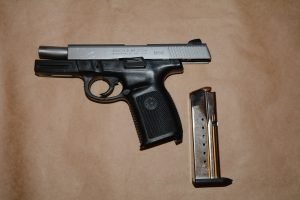 two males weapons seized