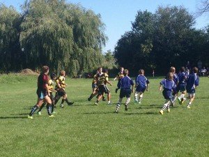 old U12 Oakville Crusaders team in competition