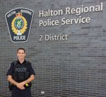 stabbed Male white Constable in front of Division 2 halton regional police