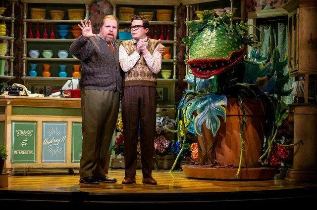 Steve Ross and André Morin in Stratford's Little Shop of Horrors.