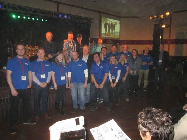 Crime Stoppers volunteers at their fundraising concert Hotel California