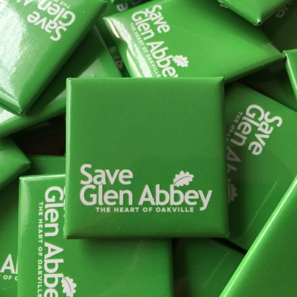 Clublink Save Glen Abbey Buttons