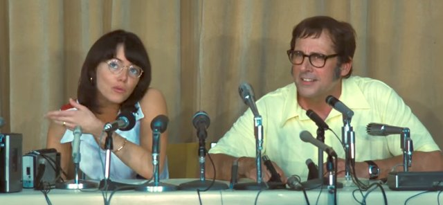 Film review for the new sports comedy BATTLE OF THE SEXES, opening wide in theatres September 29th 2017.