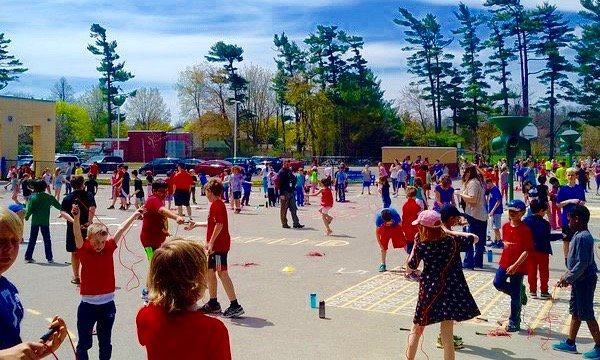 Project Safe Start 2017 Children playing in a school yard