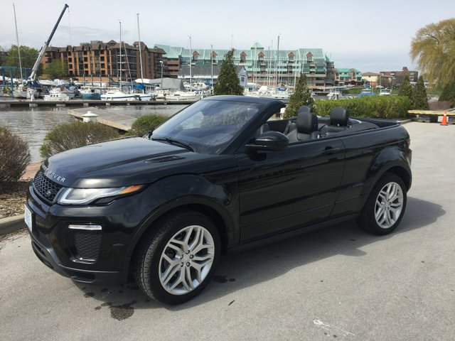 2017 Range Rover Evoque Convertible Exterior Front with Roof Down