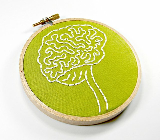 Needle point of a brain