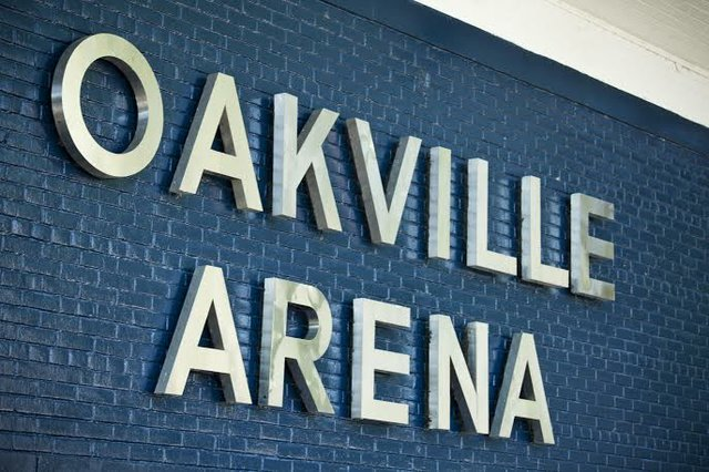 Oakville Arena Sign