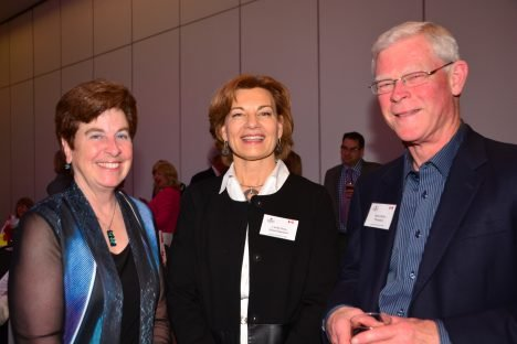 Dr. Linda Penn, PhD, Senior Scientist at the Princess Margaret Cancer Centre, Mary Saunders and CCH President, Barry Wylie