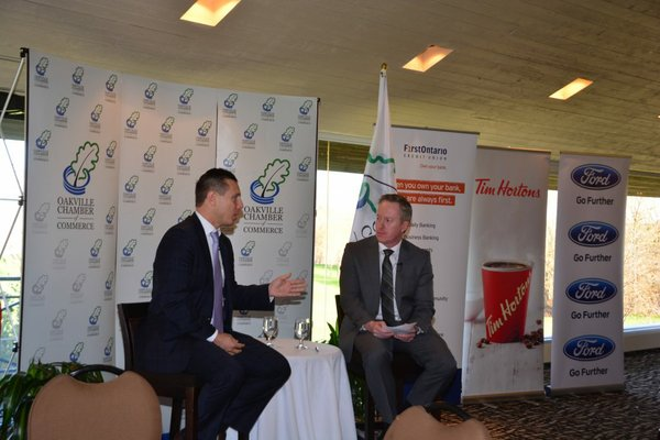 Q&A with moderator Tim Caddigan, Vice-Chair, Oakville Chamber of Commerce