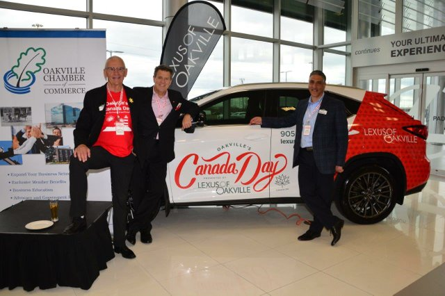 Lexus of Oakville Dealership with Canada Day Car
