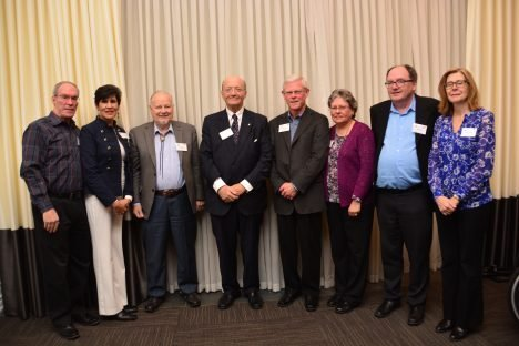 The Hon. Hugh Segal, OC, with Head Table Guests - Spreaking at Canadian Club of Halton
