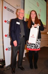 """Keynote Speaker Canadian Club Halton: Dr Julia Upton MD. Food Allergy: Why, and What Can Be Done?"""" & Barry Wylie Presenting Gift of Local Wines"""