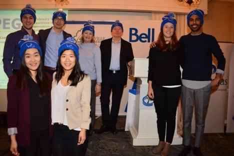 Bell Canada: Presented a Cheque to the Distress Centre Oakville