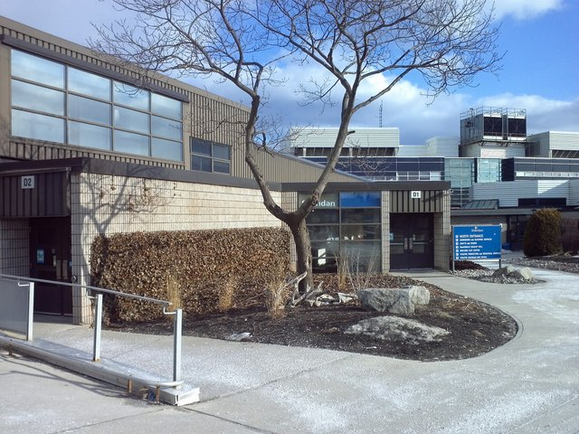 Sheridan College Front Entrance Winter