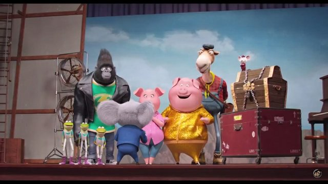 Film Review for the new animated musical Sing, opening in theatres December 21st 2016.