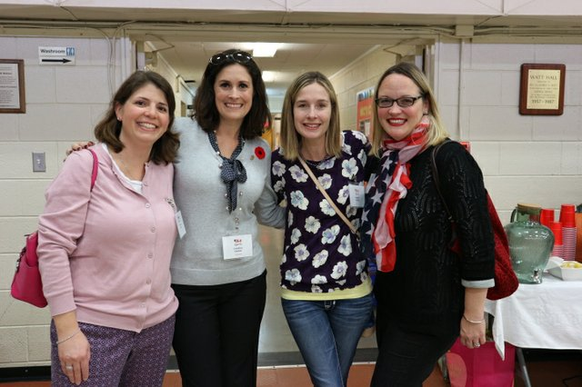 Rebecca Rule, AWCO club president Candice Quinn, Angelle Griffin and Michelle Wyss