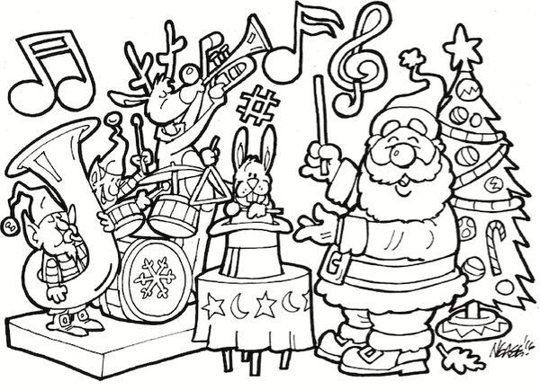 Line Drawing of Christmas Images
