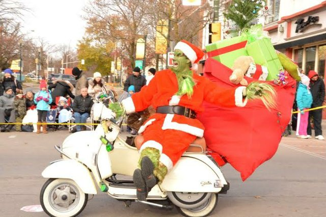 grinch on scooter