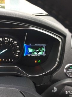 Dash of Ford Fusion