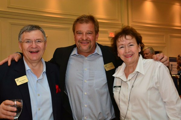 John Sawyer Oakville Chamber President, with Todd and Marianne