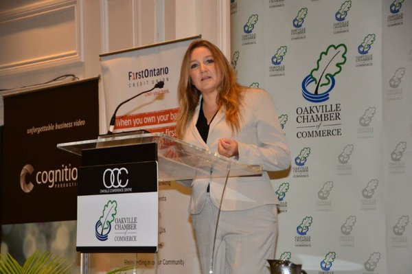 Marybeth Edge: Area Manager and the Chamber's Business Development Bank of Canada , BDC, Hostess for Small Business Week