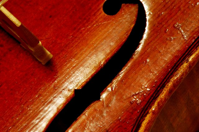 Close up of opening for violin