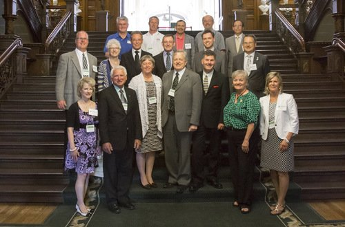 Municipal Leadership on a staircase