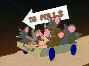 Mice going off to Vote