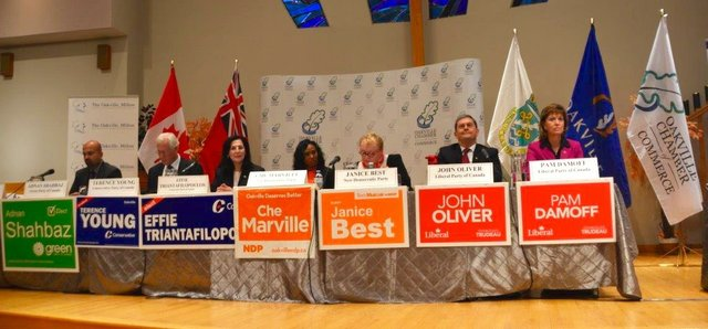 All Candidates from Oakville Ridings on Dias