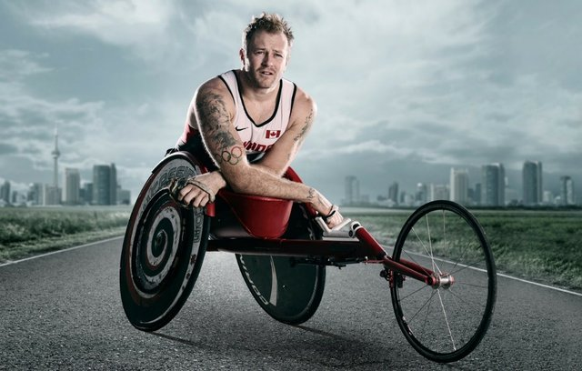 White male on a trike wheel chair