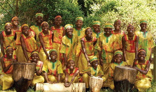 Black children in traditional African costume