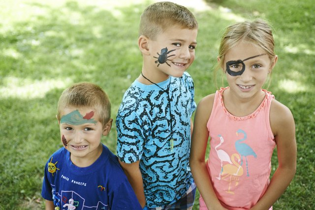 Children with faces painted