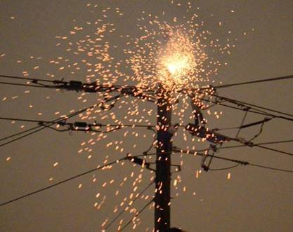 Electrical Pole Fire