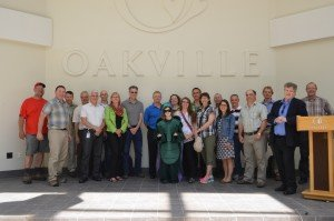 group from UoT who came to learn about Oakville EAB Program
