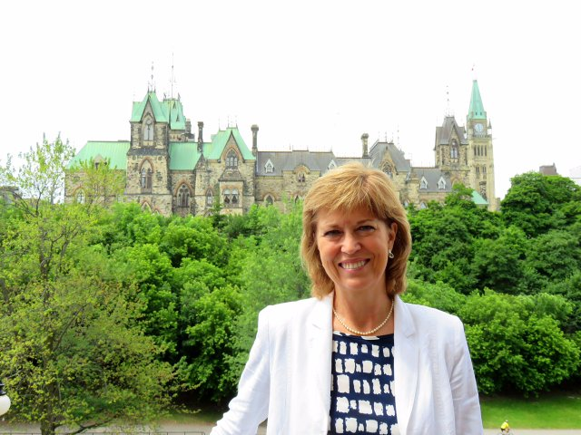 Pam Damoff by Parliament Hill