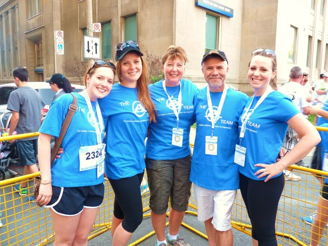 From left are Coules family members Nicole, Erika, Leslie, Dave and Lauren
