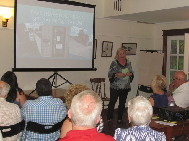 Oakville Fare Share President addresses the needs of the community at the Bronte Village Residents Association AGM