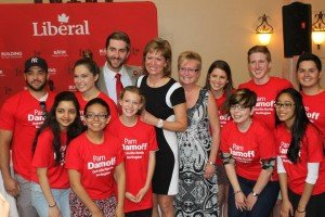 At the nomination of Federal Liberal Candidate for North Oakville/Burlington, Pam Damoff with a crew of dedicated supporters.