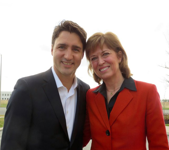 Liberal Leader Justin Trudeau and Pam Damoff