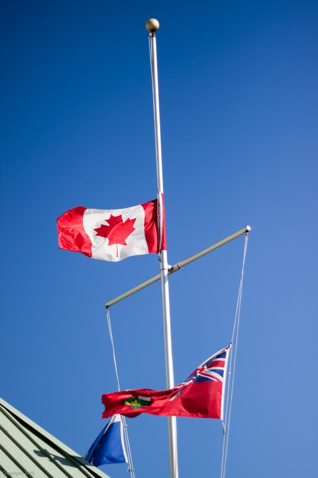 Canadian Flag at Half Mast