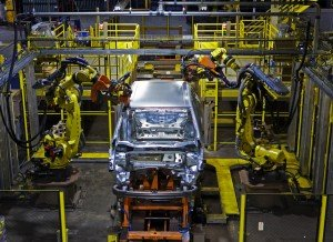 Ford's 2015 EDGE coming down the Assembly Line in Oakville;