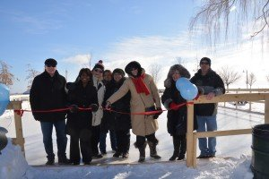 Ribbon Cutting Ceremony at Bronte Village Outdoor Ice Rink